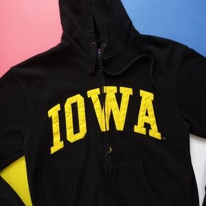 Iowa Embroidered Zip-Up Sweatshirt